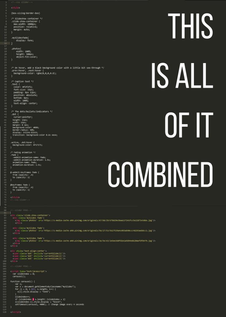 Slider codes (HTML, CSS, Javascript)