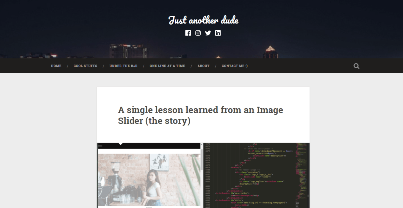 A single lesson learned from an Image Slider (the story)